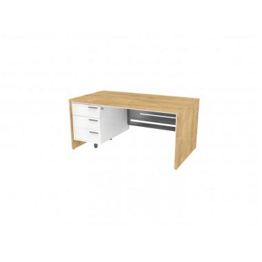 Стол письменный, 160x90x74 см, П34КМЛ/П бл