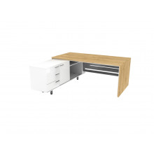 Стол письменный, 180x180x74 см, П35ДМЛ/П бл
