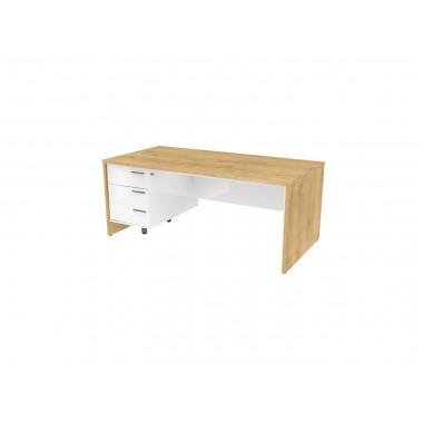 Стол письменный, 180x90x74 см, П35КЛ/П бл