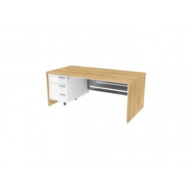 Стол письменный, 180x90x74 см, П35КМЛ/П бл