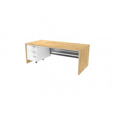 Стол письменный, 200x90x74 см, П36КМЛ/П бл