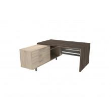 Стол письменный, 160x180x74 см, П34ДМЛ/П