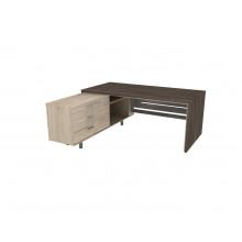 Стол письменный, 180x180x74 см, П35ДМЛ/П